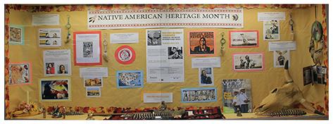 Native American Heritage display Engineering 2014